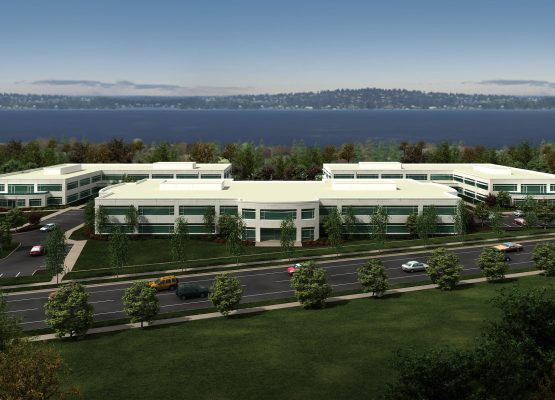 CAMPUS AT KIRKLAND [RENDERING: LANCE MUELLER ARCHITECTS]